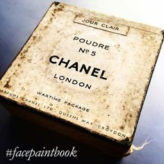 #facepaintadvent  Day 5 Another great piece from my vast collection '#makeup packaging was completely stripped back to basics during the Second World War with all brands from Chanel to Coty resorting to plain cardboard' (page 182) #facepaintbook link in bio