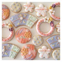2月の青山教室は、    春らしい「和」をテーマにしたクッキーでした。    ご参加ありがとうございました。
