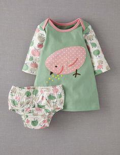 Boden Baby Appliqué Jersey Dress