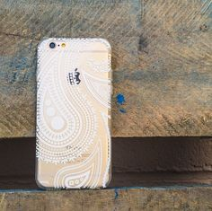 Clear TPU Case Cover for iPhone 5 5S - Acrilan Henna Paisley – milkyway