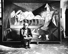 Black & White Matte Pablo Picasso Photo - Spain