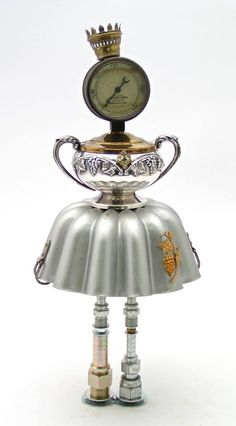 Upcycled steampunk dolls from Kathy Johnson