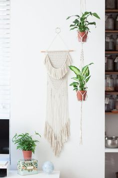 Bohemian Macrame Wall Hanging from BohoJournal (pattern and finished pieces available)