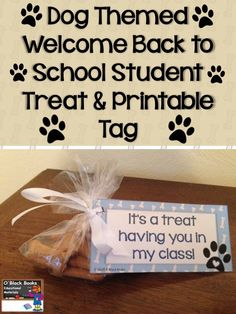 This dog themed back to school/first day of school treat is filled with Scooby Snacks & will be a howling success with students.  Find the free printable tag at https://lessons4littleones.com/2015/07/24/welcome-back-to-school-treats-printable-template/