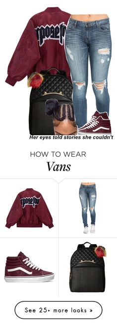 """75 degrees in November.."" by trinityannetrinity on Polyvore featuring Betsey Johnson and Vans"