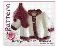 Baby Jacket and matching Hat Knitting by DeborahGraceDesigns