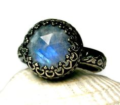 vintage moonstone jewelry | ... Blue Fire, Handmade Jewelry, Vintage Inspired, made to order on Etsy