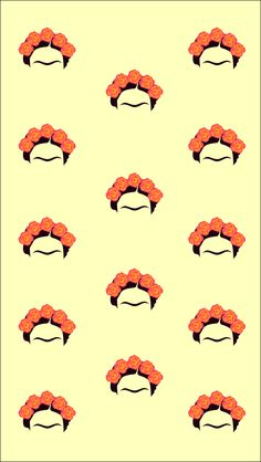 Frida kahlo pattern wallpaper - Sarah Zbidi