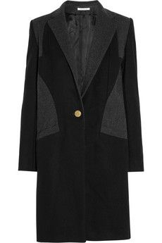 Faith Connexion Contrast-paneled wool-blend coat | THE OUTNET