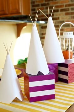 These adorable teepees are made from just plain, white paper and toothpicks — they really couldn't be easier. I made them with my youngest son when he was feeling a bit under the weather and had to stay home from school. These paper teepees are so simple, we think they would make a great school,...