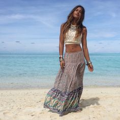 Rocky Barnes in the Xanadu maxi skirt by Spell & the Gypsy Collective