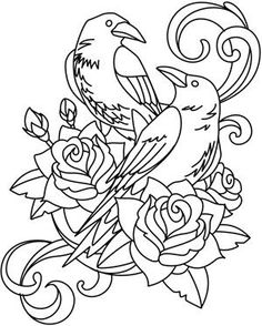 birds - ravens and crows | Urban Threads: Unique and Awesome Embroidery Designs