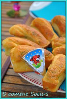 Mini Cakes à la Vache qui Rit et au Jambon - S comme Soeurs et Saveurs