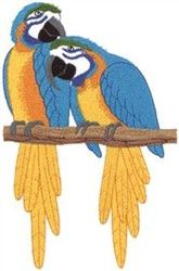 Wildlife Embroidery Design: Macaw Parrots from Dakota Collectibles