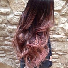 Rose gold hair #rosegoldhair #hair #balayage #haircolor #color #extensions #longhair
