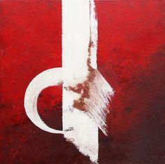 mixed emotions 80x80  - Helena Olewicz https://www.pinterest.com/helenaolewicz/paintings-red-helena-olewicz/