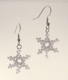 Snowflake Beaded Earrings
