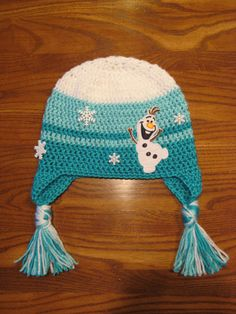 Crochet Olaf Hat