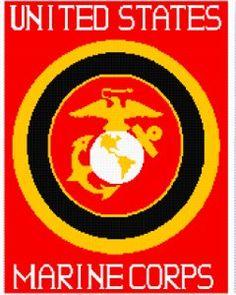 Marine Corps Afghan | AllFreeCrochet.com