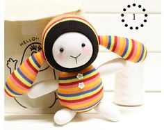DIY Handmade Sock Doll Kit with detailed English color instruction manual Rabbit Crafts, Bunny Crafts, Rabbit Toys, Diy Y Manualidades, Sock Toys, Sock Crafts, Handmade Toys, Handmade Crafts, Sock Animals