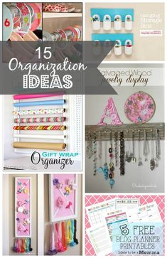 Today I rounded up 15 organization ideas to help...  »