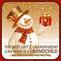 A BEST GIFT A GRANDPARENTS CAN HAVE...