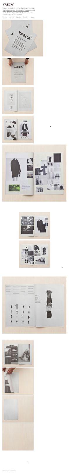 Fashion Branding & layout | typography / graphic design: Yaeca |