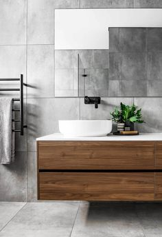 Modern Farmhouse, Rustic Modern, Classic, light and airy bathroom design a few ideas. Bathroom makeover a few ideas and bathroom renovation ideas. Grey Bathroom Tiles, Bathroom Renos, Bathroom Renovations, Small Bathroom, Master Bathroom, Grey Tiles, Grey Bathroom Interior, Bathroom Ideas, Bathroom Colours