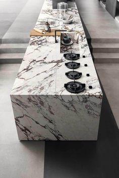 Grande marble look - Marble Effect - Businesses Luxury Kitchen Design, Kitchen Room Design, Home Room Design, Luxury Kitchens, Home Decor Kitchen, Interior Design Kitchen, Kitchen Furniture, Cuisines Design, Kitchen Remodel