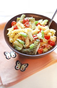 Friday Night Pasta Salad - low fat and vegan :) just another reason I need an immersion blender!