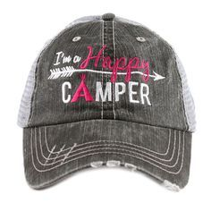 Trucker style with velcro adjustable back with hole for pony. Great for vacation and girls weekends! Makes a great gift for years of memories at the cabin making memories with friends! Sand, sun, wate