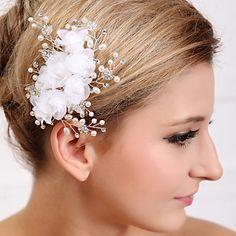 Elegant Flower and Crystal Wedding/Party Headpiece(1 Piece Set)
