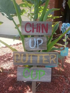 Yard Sign Flower Garden Sign Lawn Ornament Chin by TRUECONNECTION, $15.00
