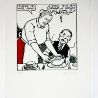 Oor Wullie says: I canna stand it ony langer. Handmade, screen print on mould-made, cotton paper. Scottish Accent, Scottish Gaelic, Dundee, Glasgow, Make You Smile, Screen Printing, Childhood, Notes, Comics