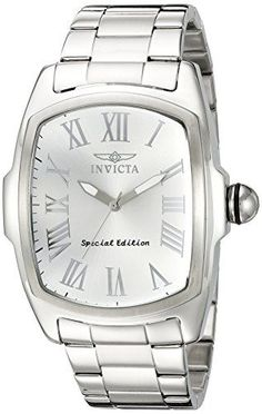 Invicta Men's 15187SYB Lupah Analog Display Quartz Silver Watch -- Click image to review more details.