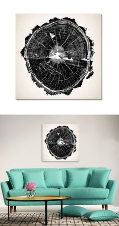 Legend and science meet to document the stunning historical lessons found inside mature trees. The Moral Fiber Canvas Print offers a heady glimpse of a tree's interior, presented in detail-rich graysca...  Find the Moral Fiber Canvas Print, as seen in the The Dark Side of Mid-Century Collection at http://dotandbo.com/collections/the-dark-side-of-mid-century?utm_source=pinterest&utm_medium=organic&db_sku=113666