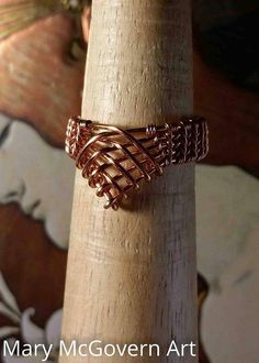 Ring. Princess. Copper. Silver. Wire Wrapped. Jewelry.