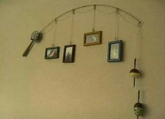 Dad's Father's day present, fishing, family tree, photo's, gift, wall decor