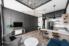 high style in a sophisticated tiny lithuanian apartment | @meccinteriors | design bites