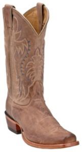Nocona Men's Tan Brown Vintage Cow Single Welt Punchy Square Toe Western Boots | Cavender's