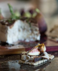"Honey Rosemary ""Cheese"" with Figs and a Balsamic Reduction"