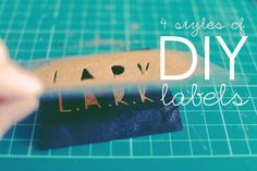 Ching Makes Things!: Tutorial: 4 styles of cost-effective DIY labels
