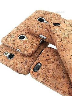 Unique Hard Natural Cork Case 1-Piece Cover For Apple Samsung HTC Phones | eBay