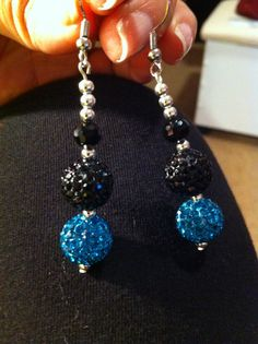 Shamballa earrings