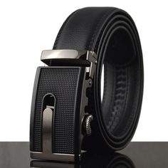 36195906193c Fashionable Openwork Alloy Buckle Faux Leather Belt For Men Designer Belts