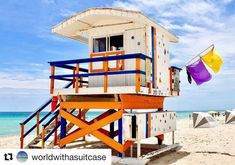 Se og bli sett her. ( one of the 33 lifeguard towers on Southbeach each with a unique design. In addition to being a shelter for the Miami beach patrol lifeguard straff the towers have become a cherished symbol of Miami South Beach Miami, The 33, Instagram Feed, Instagram Posts, Image Categories, Woodland Party, Lifeguard, Towers, Shelter