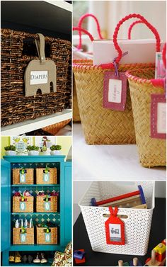 Ever wonder how to label your wicker baskets? Live Simply by Annie solves the mystery.