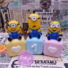 Cubos Decorados Minions - Paty's Biscuit