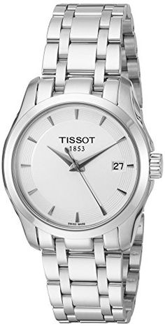 Now available Tissot Women's T0352101101100 Couturier Analog Swiss Quartz Silver Stainless Steel Watch