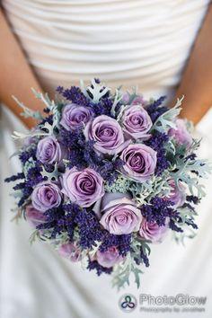 Bouquet de roses mauves